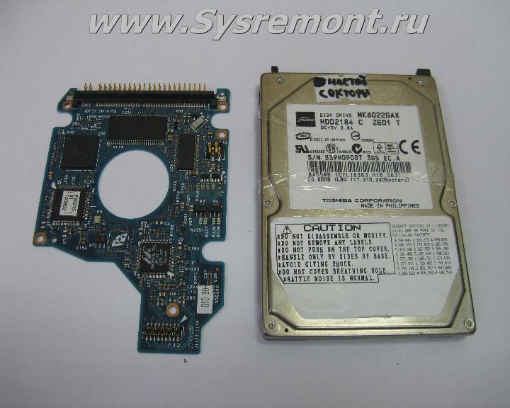 Контроллер HDD (плата электроники) TOSHIBA MK1237GSX.